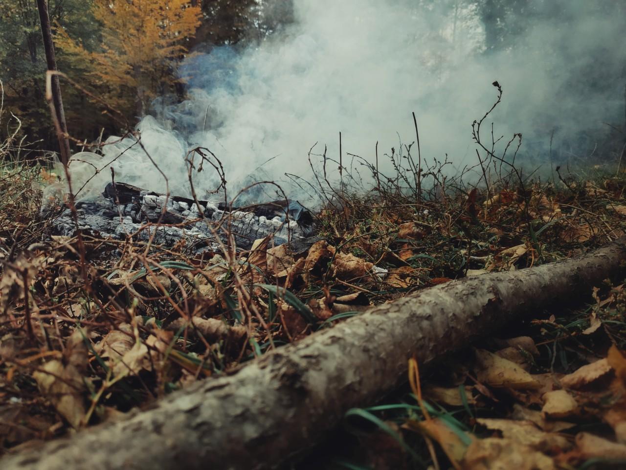 Дым на фотографии