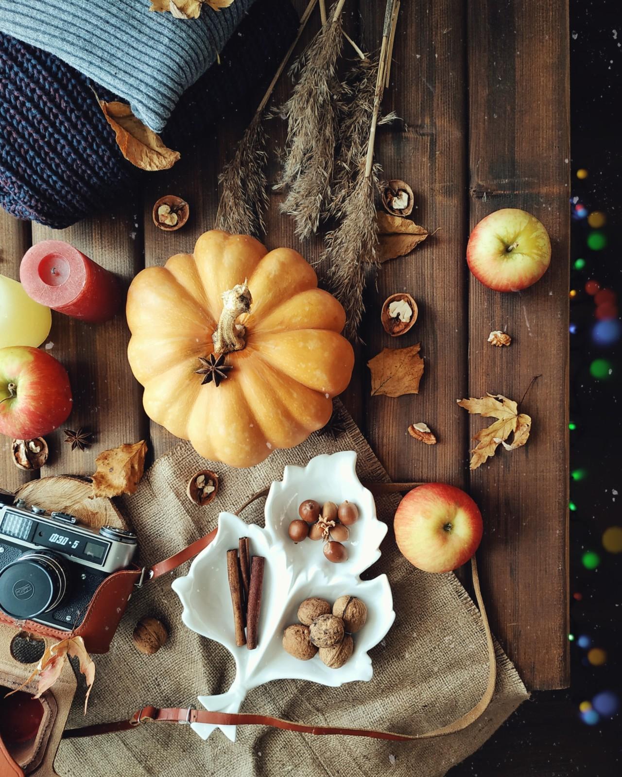 Осенняя раскладка для Инстаграм