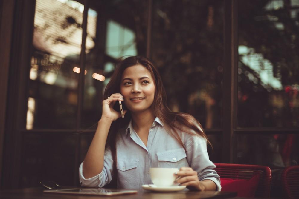 Фото с кофе в кафе