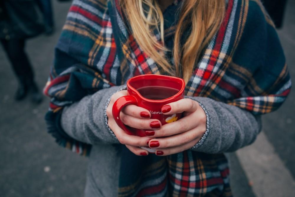 Осеннее фото с кофе