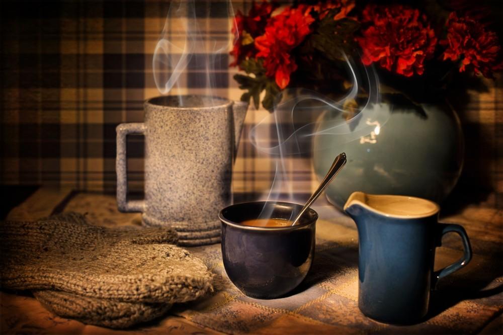 Уютная фотография с кофе
