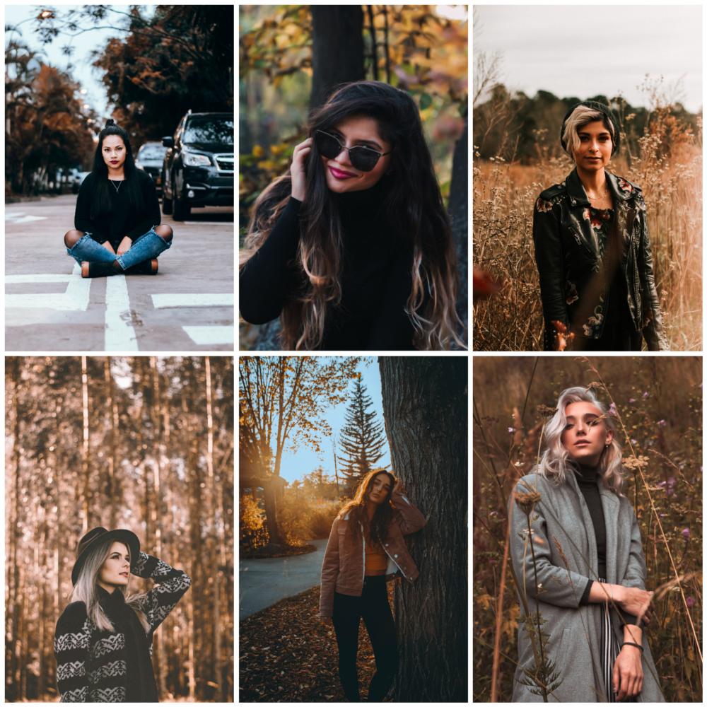 Идеи для осенней фотосессии для девушки