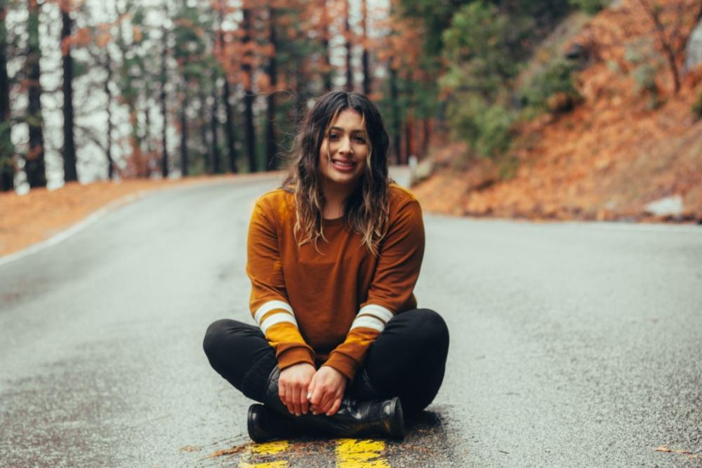 Осенняя фотография с девушкой